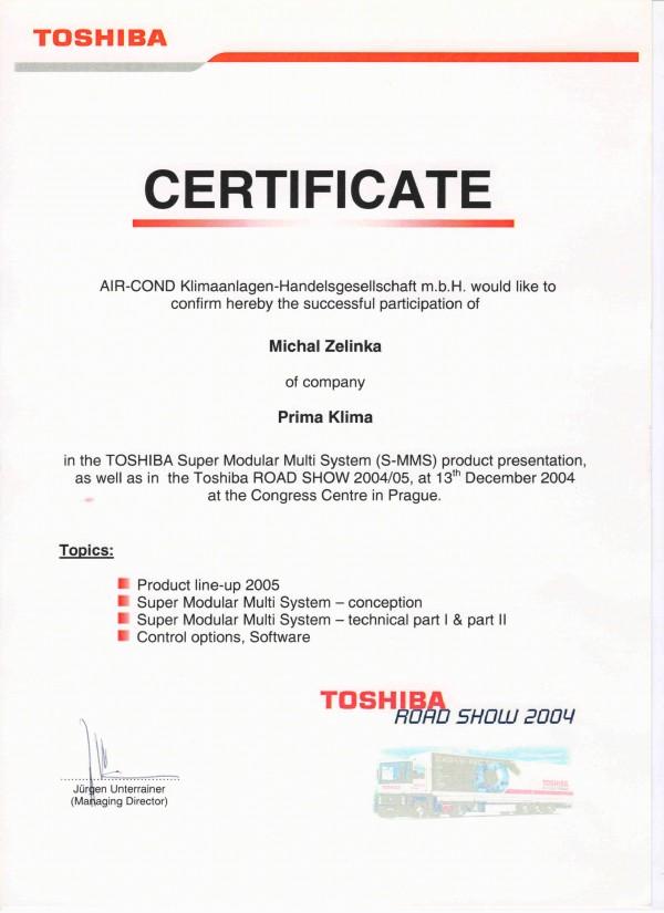 Prima Klima certifikát